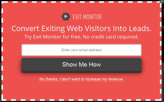 Conversion Optimization Tools - Exit Monitor