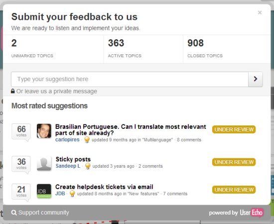 Get User Feedback With User Echo