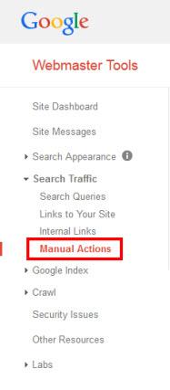 Google Webmaster Tools - Manual Action
