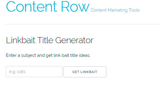 Link Bait Generator