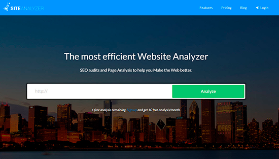 Site Analyzer