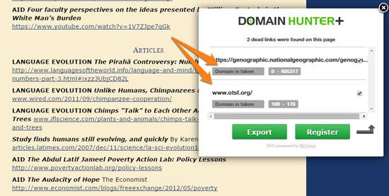 Domain Hunter Plus